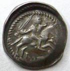 Photo numismatique  Monnaies Monnaies/médailles de Lorraine Ferri III Denier, denar, denario, denarius FERRI III, 1251.1303, Denier, épée, Lis et croix, 0.67 grammes, Flon.14/16 TTB