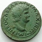 Photo numismatique  Monnaies Empire Romain NERON, NERO As, asse,  NERO, NERON, As frappé à Lyon en 66, SPQR Victoire, 10.99 grammes, RIC.543 TTB+ belle patine verte!!