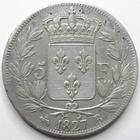 Photo numismatique  Monnaies Monnaies Françaises Charles X 5 Francs CHARLES X, 5 francs 1827 B Rouen, G.644 TTB