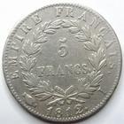 Photo numismatique  Monnaies Monnaies Françaises 1er Empire 5 Francs NAPOLEON Ier, 5 francs 1812 I Limoge, G.584 TTB