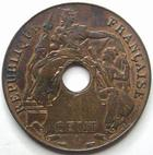 Photo numismatique  Monnaies Anciennes colonies Françaises Indochine 1 Centime INDOCHINE, 1 centime 1938 A, LEC.99 petite tâche sinon TTB+