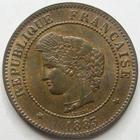 Photo numismatique  Monnaies Monnaies Fran�aises Troisi�me R�publique 5 Centimes 5 centimes C�r�s 1883 A grand A, G.157a SUPERBE