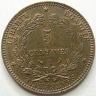 Photo numismatique  Monnaies Monnaies Françaises Troisième République 5 Centimes 5 centimes Cérès 1898 A, G.157a TTB à SUPERBE