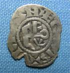 Photo numismatique  Monnaies Monnaies Féodales Anjou Denier, denar, denario, denarius ANJOU, FOULQUES V, 1109.1129, denier, Boudeau 153 variante, TB