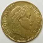 Photo numismatique  Monnaies Monnaies Française en or Second Empire 10 Francs or NAPOLEON III, 10 francs or lauré 1862 A Paris, G.1015 TB à TTB