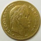 Photo numismatique  Monnaies Monnaies Française en or Second Empire 10 Francs or NAPOLEON III, 10 francs or lauré 1868 A Paris, G.1015 TB+