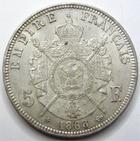 Photo numismatique  Monnaies Monnaies Françaises Second Empire 5 Francs NAPOLEON III, 5 francs lauré 1868 BB Strasbourg, G.739 TTB à SUPERBE