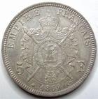 Photo numismatique  Monnaies Monnaies Françaises Second Empire 5 Francs NAPOLEON III, 5 francs lauré 1869 A Paris, G.739 Presque SUPERBE