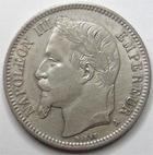 Photo numismatique  Monnaies Monnaies Françaises Second Empire 1 Franc NAPOLEON III, 1 franc lauré 1868 A Paris, G.463 TTB+