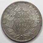 Photo numismatique  Monnaies Monnaies Françaises Second Empire 50 Centimes NAPOLEON III, 50 centimes non lauré 1853 A Paris, G.414 SUPERBE
