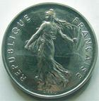 Photo numismatique  Monnaies Monnaies Françaises Cinquiéme République Piéfort du 5 francs Semeuse Piéfort du 5 francs Semeuse 1985 en argent, 100 exemplaires, G.89/770P FDC