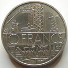 Photo numismatique  Monnaies Monnaies Françaises Cinquiéme République Piéfort de la 10 francs Mathieu Piéfort de la 10 francs Mathieu 1985 en argent, 100 exemplaires, G.89/814P FDC