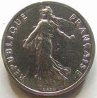Photo numismatique  Monnaies Monnaies Françaises Cinquiéme République Piéfort du 1/2 franc Semeuse Piéfort du 1/2 franc Semeuse de Roty 1985 en argent, 100 exemplaires, G.89/429P FDC