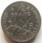 Photo numismatique  Monnaies Monnaies Fran�aises Cinqui�me R�publique Pi�fort du 1/2 franc Semeuse Pi�fort du 1/2 franc Semeuse de Roty 1985 en argent, 100 exemplaires, G.89/429P FDC