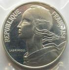Photo numismatique  Monnaies Monnaies Fran�aises Cinqui�me R�publique Pi�fort de la 20 centimes Lagriffoul  Pi�fort de la 20 centimes Lagriffoul (Marianne) 1985 en argent, 100 exemplaires, G.89/332P FDC