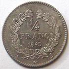 Photo numismatique  Monnaies Monnaies Françaises Louis Philippe 1/4 de Franc LOUIS PHILIPPE, 1/4 de franc 1843 A Paris, G.355 SUPERBE+