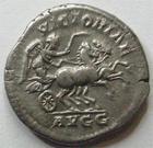 Photo numismatique  Monnaies Empire Romain SEPTIME SEVERE, SEPTIMUS SEVERUS, SEPTIMO SEVERO Denier, denar, denario, denarius SEPTIMIUS SEVERUS, SEPTIME SEVERE, denier, Rome en 201.210, Bige conduit par une victoire, 3.38 Grms, RIC.299 TTB à SUPERBE Rare!