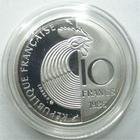 Photo numismatique  Monnaies Monnaies Fran�aises Cinqui�me r�publique 10 Francs 10 francs Schuman en argent 1986, Frappe belle �preuve
