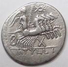 Photo numismatique  Monnaies R�publique Romaine Tullia 120 av Jc Denier, denar, denario, denarius M.TULLIUS, Denier 120 avant Jc, quadrige conduit par une victoire, 3.79 grammes, RSC.Tullia 1 TTB