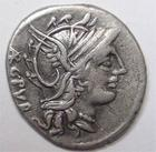 Photo numismatique  Monnaies République Romaine Sentia 101 av Jc Denier, denar, denario, denarius L.SENTIUS Cf, Denier 101 avant Jc, quadrige conduit par Jupiter, 3.84 grammes, RSC.Sentia 1 TTB