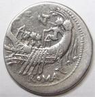 Photo numismatique  Monnaies République Romaine Fonteia 108 av Jc Denier, denar, denario, denarius Mn.FONTEIUS, Denier 108.107 avant Jc, Galère (lettre G à droite du buste), 3.80 grammes, RSC.Fonteia 7 Var. TTB