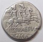 Photo numismatique  Monnaies R�publique Romaine Aelia 138 av Jc Denier, denar, denario, denarius P.AELIUS PAETUS, Denier 138 avant Jc, les Dioscures � droite, 3.74 grammes, RSC.Aelia 3 Presque TTB