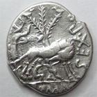 Photo numismatique  Monnaies R�publique Romaine Pompeia 137 avant Jc Denier, denar, denario, denarius SEX.POMPEIUS FOSTLUS, Denier 137 avant Jc, Louve allaitant Romulus et R�mus, 3.95 grammes, RSC.Pompeia 1 TTB