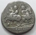 Photo numismatique  Monnaies R�publique Romaine Servilia 127 av Jc Denier, denar, denario, denarius C.SERVILIUS VATIA, Denier 127 avant Jc, Cavaliers, 2.89 grammes, RSC.Servilia 1 TB+ R!