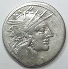 Photo numismatique  Monnaies République Romaine Papiria 121 avant Jc Denier, denar, denario, denarius Cn.CARBO, Denier 121 avant Jc, jupiter conduisant un quadrige, 3.85 grammes, RSC.Papiria 7 TB à TTB
