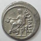 Photo numismatique  Monnaies République Romaine Claudia 41 av Jc Denier, denar, denario, denarius C.CLAUDIUS Cf.VESTALIS, Denier 41 avant Jc, Vesta, 3.91 grammes, RSC.Claudia 13 TTB/TTB+ R!