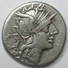 Photo numismatique  Monnaies République Romaine Cloulia 128 av Jc Denier, denar, denario, denarius T.CLOELIUS, Denier 128 avant Jc, Bige, 3.08 grammes, RSC.Cloulia 1 TTB/TB+