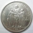 Photo numismatique  Monnaies Monnaies Françaises Troisième République 5 Francs 5 francs Dupré 1873 A Paris, G.745a Presque SUPERBE