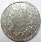 Photo numismatique  Monnaies Monnaies Fran�aises Troisi�me R�publique 5 Francs 5 francs Dupr� 1873 A Paris, G.745a Presque SUPERBE