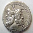 Photo numismatique  Monnaies République Romaine Furia 119 avant Jc Denier, denar, denario, denarius M.FURIUS, L.f PHILUS, Denier 119 avant Jc, Janus, 3.62 grammes, RSC.Furia 18 TTB