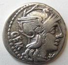 Photo numismatique  Monnaies R�publique Romaine Aburia 134 av Jc Denier, denar, denario, denarius C.ABURIUS GEMINUS, Denier 134 avant Jc, Quadrige, 3.83 grammes, RSC.Aburia 1 TTB
