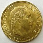 Photo numismatique  Monnaies Monnaies Française en or Second Empire 10 Francs or NAPOLEON III, 10 francs or lauré 1866 BB Strasbourg, G.1015 SUPERBE+ rare dans cette qualité!