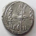 Photo numismatique  Monnaies République Romaine Marcus Antonius 32 avant Jc Denier, denar, denario, denarius MARCUS ANTONIUS, MARC ANTOINE, Denier 32.31 avant Jc, LEG.II, 3.22 grammes, RSC.27 flan court sinon SUPERBE+