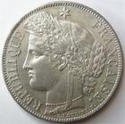 Photo numismatique  Monnaies Monnaies Françaises Troisième République 5 Francs 5 francs Cérès 1870 A avec légende, G.743 Egratignures au revers, beau brillant d'origine, Presque SUPERBE