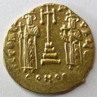 Photo numismatique  Monnaies Monnaies Byzantines 7ème siècle Solidus CONSTANS II et CONSTANTIN IV, 659.661, Solidus, 4.43 grammes, S.964 TTB+