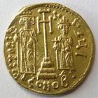 Photo numismatique  Monnaies Monnaies Byzantines 7ème siècle Solidus CONSTANS II et CONSTANTIN IV, 659.661, Solidus, 4.40 grammes, S.964 TTB+
