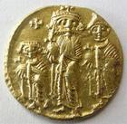 Photo numismatique  Monnaies Monnaies en dépôt vente Byzance Solidus, solidii HERACLIUS, CONSTANTIN et HERACLONES, solidus, 610.641, 4.44 grammes, S.758 TTB+