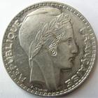 Photo numismatique  Monnaies Monnaies Fran�aises Troisi�me R�publique 20 Francs 20 Francs Turin 1937, G.852 Bon TTB