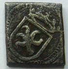 Photo numismatique  Monnaies Monnaies Royales Louis XII Poids mon�taire LOUIS XII, Poids mon�taire XV em si�cle, Ecu d'or au soleil, 13/14 mm, 3.26 grammes, TTB