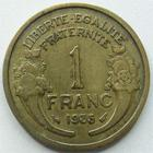 Photo numismatique  Monnaies Monnaies Françaises Troisième République 1 Franc 1 Franc Morlon 1935, G.470 TB à TTB