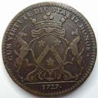Photo numismatique  Monnaies Jetons Jeton de ville Dijon DIJON, Jeton 1727, Vicomte Baudinet maire, F.10090 TTB/TB