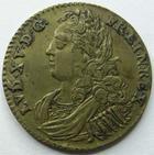 Photo numismatique  Monnaies Jetons Jeton Royale, Louis XV Jeton de Louis XV LOUIS XV, Jeton 24 mm, Pallas et Minerve, TTB