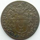 Photo numismatique  Monnaies Jetons Jeton de régions Ile de France Ile de France, Daniel Voysin, prévost des marchands, 1663, Jeton 27 mm, F.3593 TTB R!