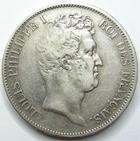 Photo numismatique  Monnaies Monnaies Fran�aises Louis Philippe 5 Francs LOUIS PHILIPPE Ier, 5 francs t�te nue 1830 A, Tranche en relief, G.676a TTB/TB