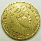 Photo numismatique  Monnaies Monnaies Française en or Second Empire 10 Francs or NAPOLEON III, 10 francs or lauré, 1864 A, G.1015 TB à TTB