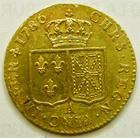 Photo numismatique  Monnaies Monnaies royales en or Louis XVI Louis d'or au buste nu LOUIS XVI, Louis d'or au buste nu 1786 A, 7.65 grammes, Dup.1707 fine rayures sur la joue sinon TTB+